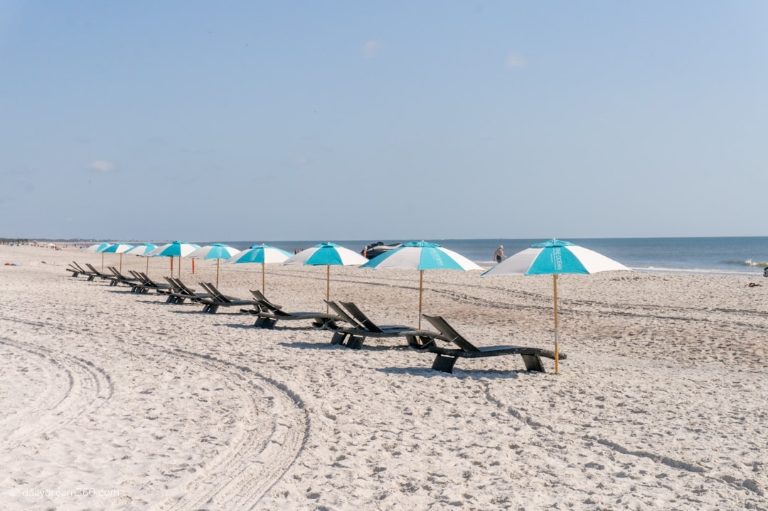 Chairs and umbrellas at Atlantic Beach Florida