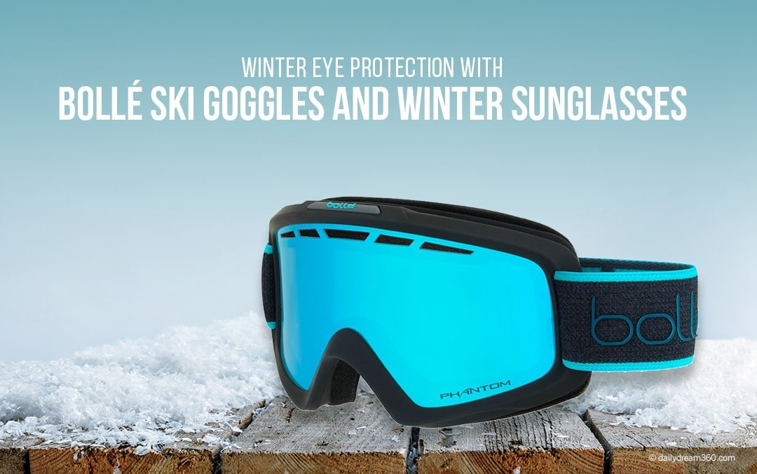 Winter Eye Protection with Bolle Ski Goggles and Winter Sunglasses