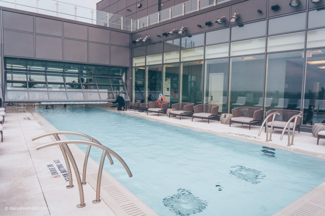 Hotel X Toronto rooftop outdoor heated pool