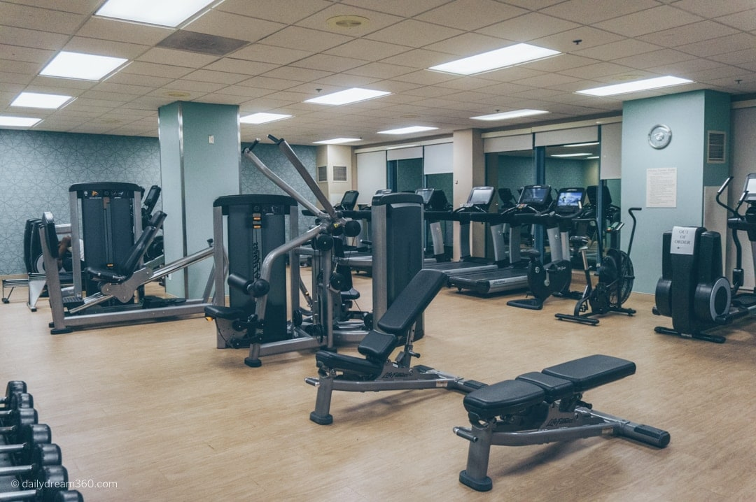 Fitness room with lots of cardio and strength training machines