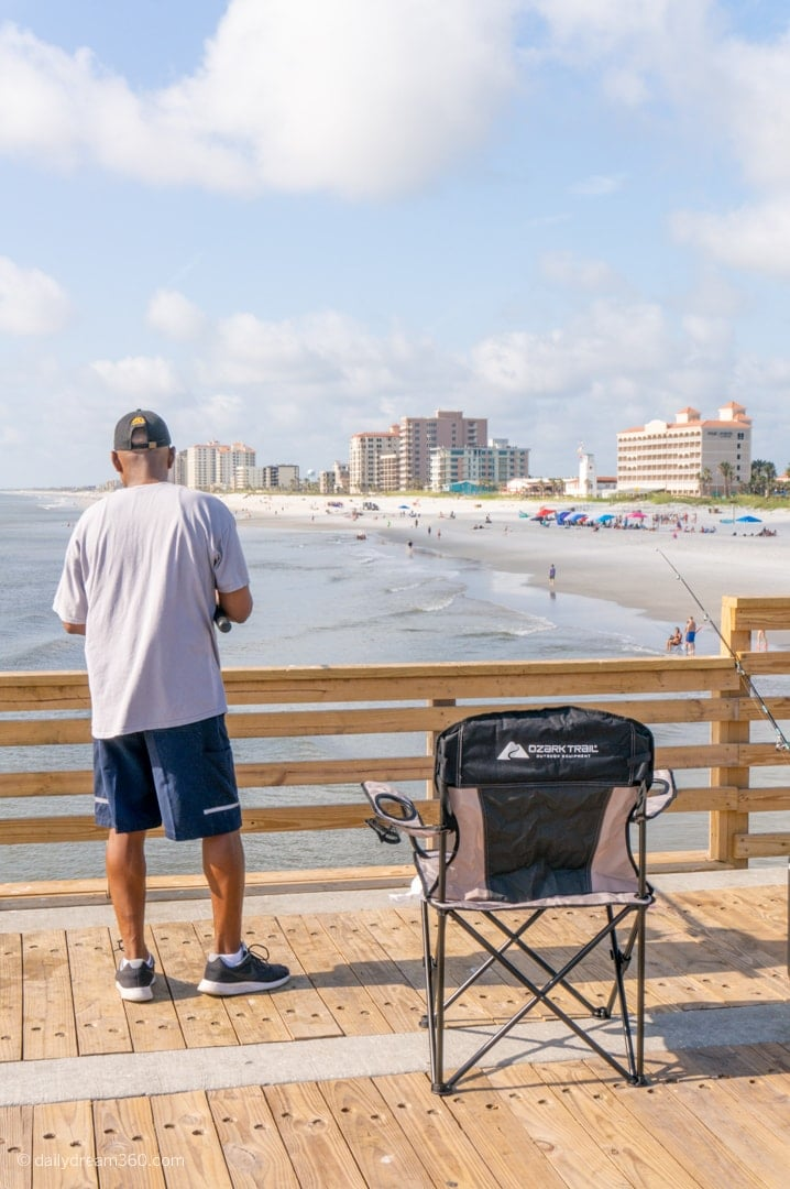 Fishing off the pier at Jacksonville Beach pier