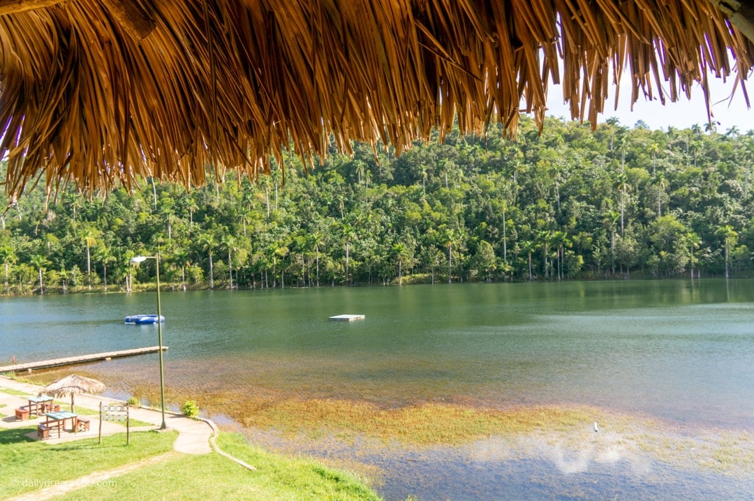 View from lookout point at the river and one of the swimming areas in las Terrazas Eco Vilage Cuba