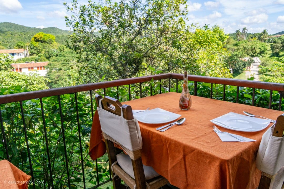 Vegetarian restaurant in Las Terrazas Eco Village Cuba Community