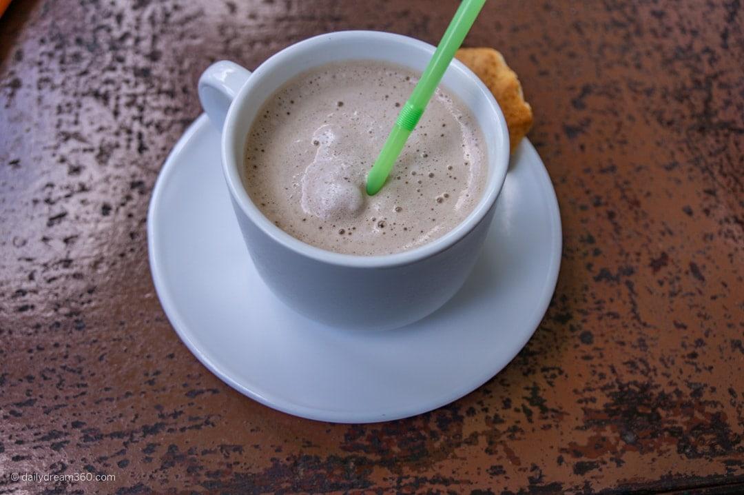 Ice coffee at Cafe Maria Las Terrazas Cuba