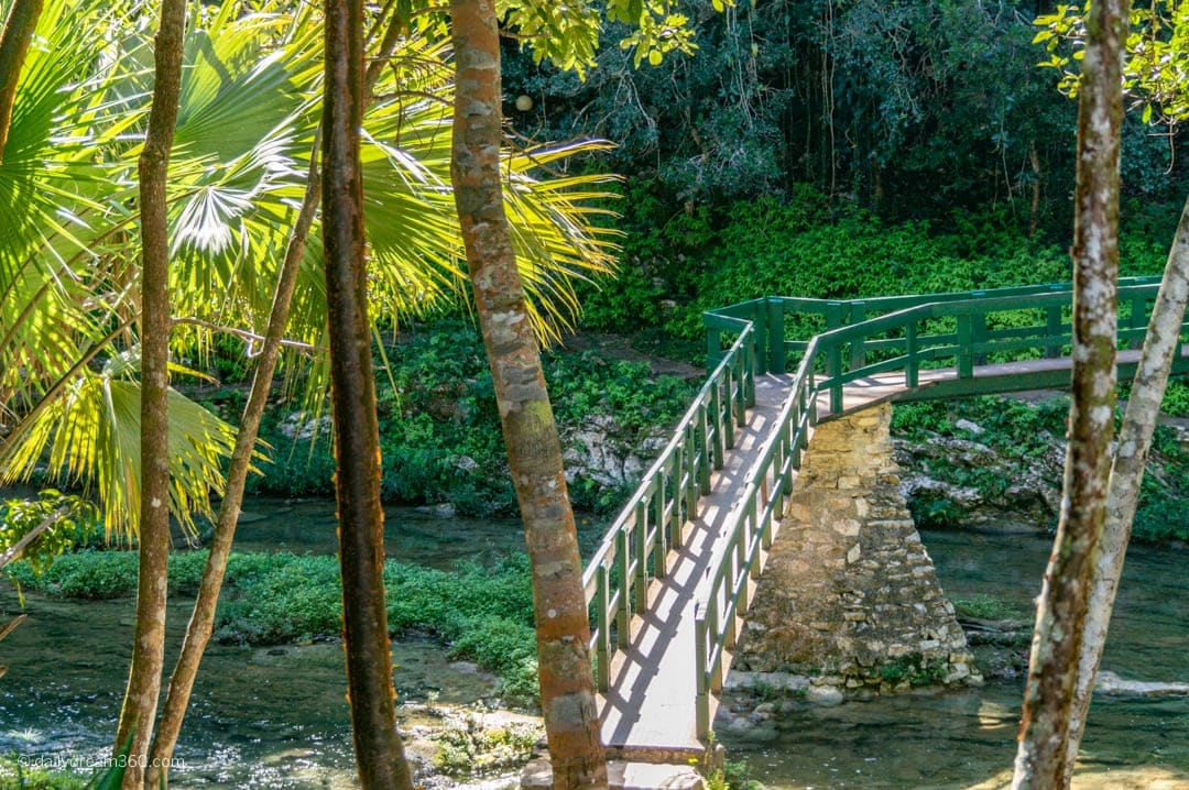 Hiking trail over bridge in Las Terrazas Cuba