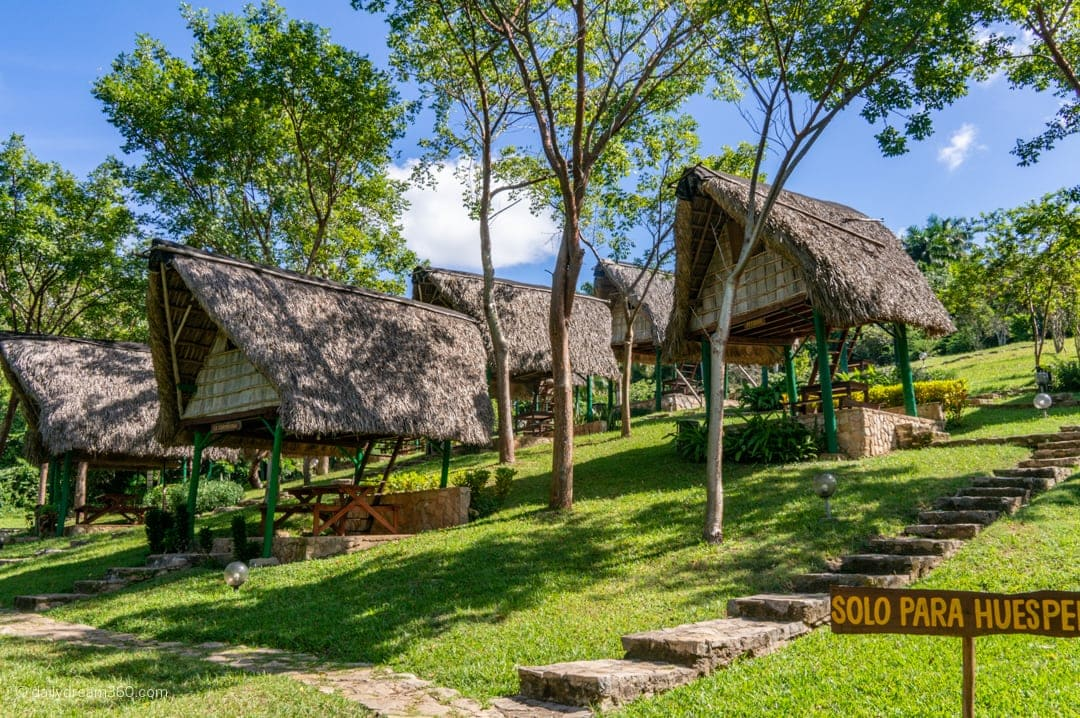 Rustic cabins on stilts in Las Terrazas Eco Village Cuba