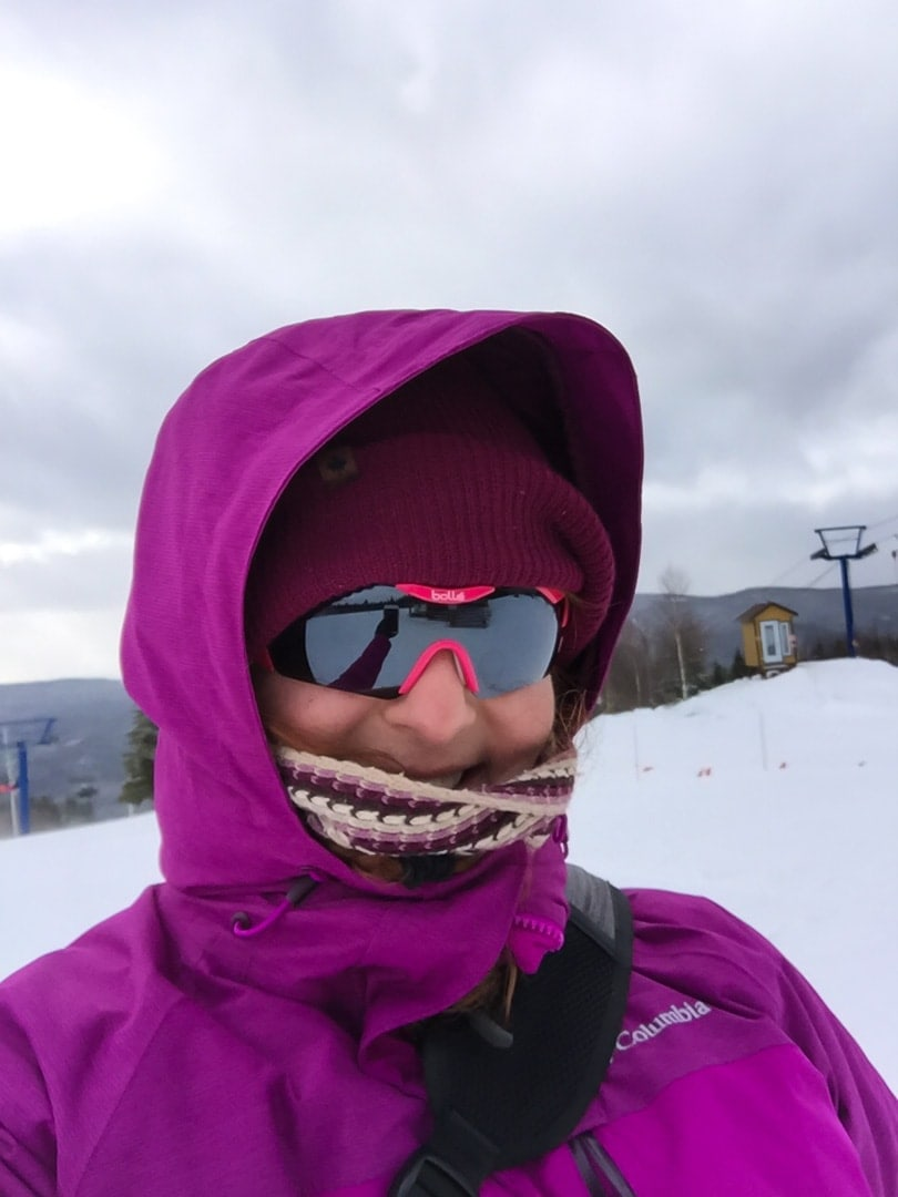 Bolle sunglasses on ski hill