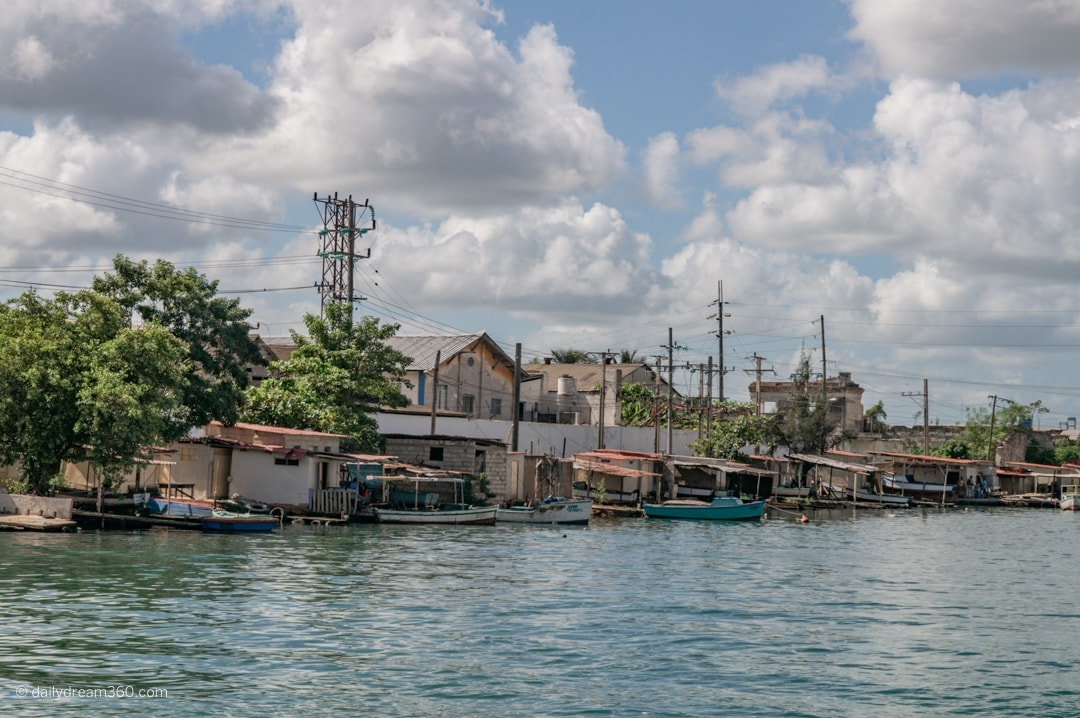 Fishing boats on water in Matanzas Cuba