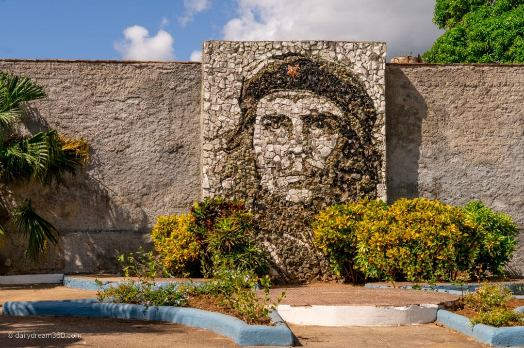 Che Guevara stone monument located in Matanzas Cuba