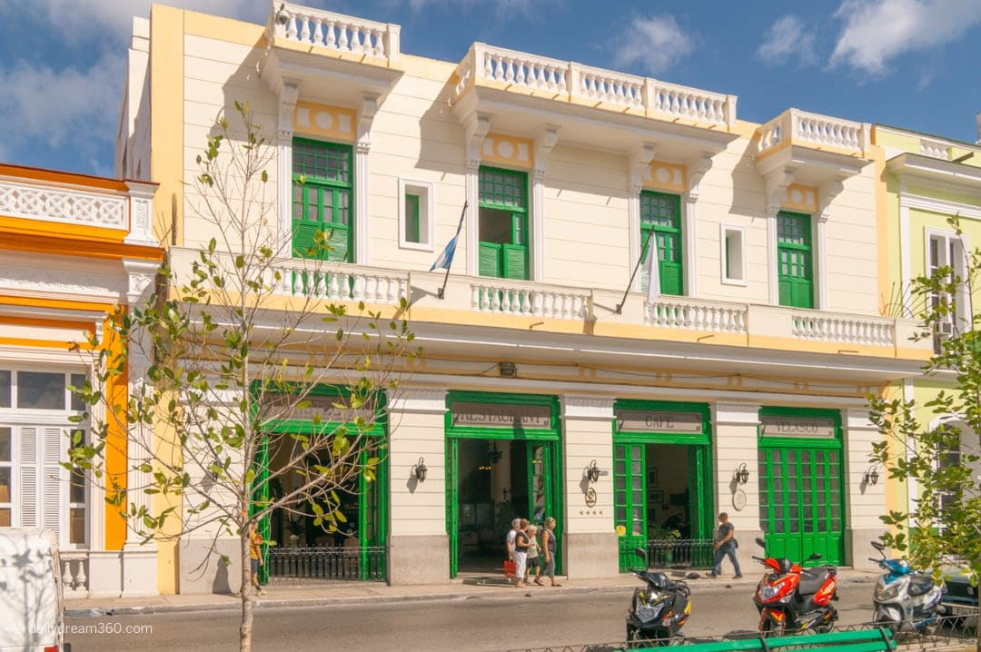 Hotel Vasco main building in Matanzas Cuba