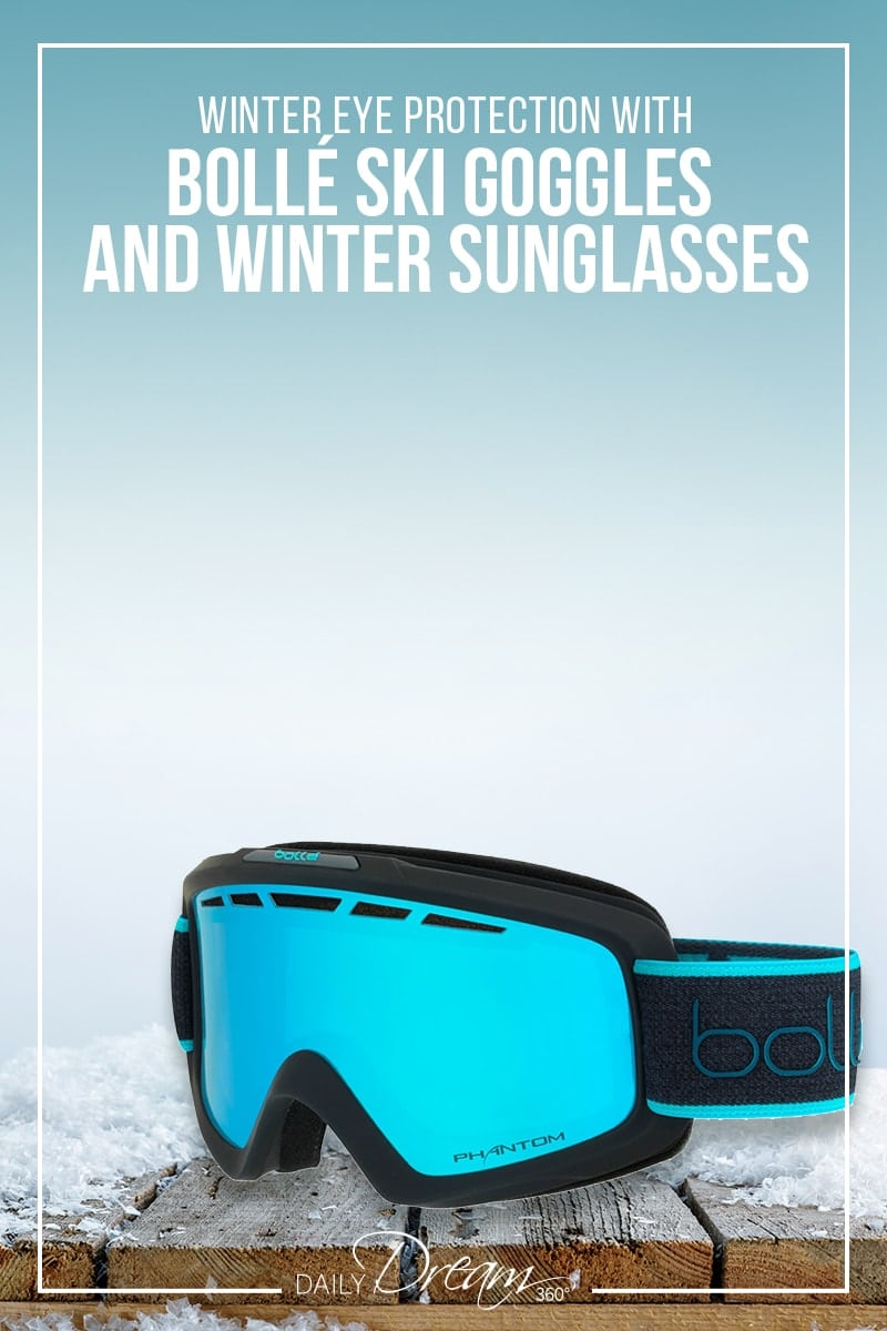 Bolle Nova II ski goggles on ledge with snow