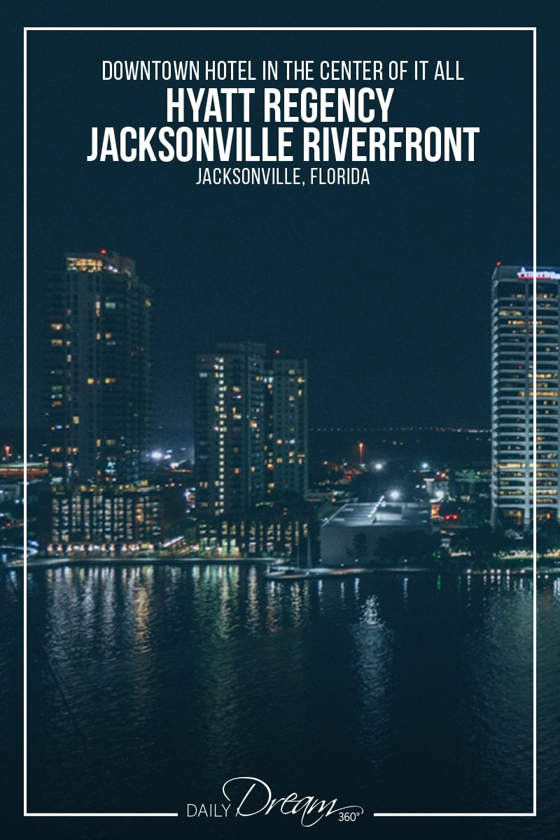 View of Jacksonville skyline at night from Hyatt Regency