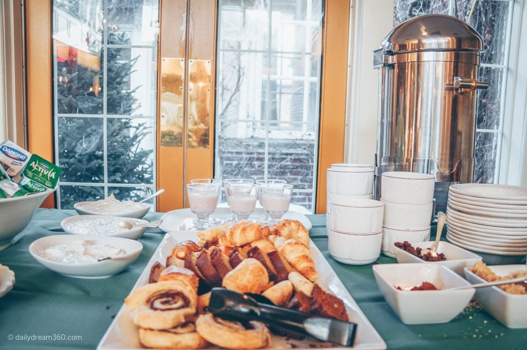 Breakfast buffet at The Briars Resort and Spa Ontario