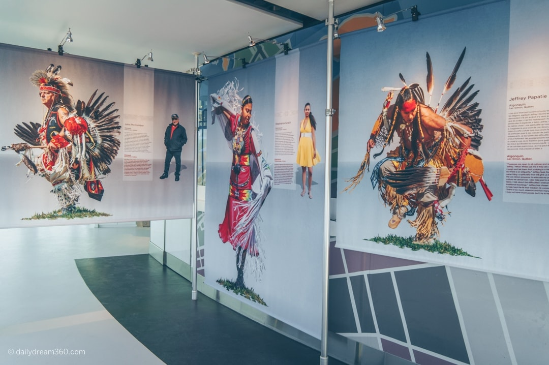 Regalia Native Pride exhibit on lookout level of CN Tower