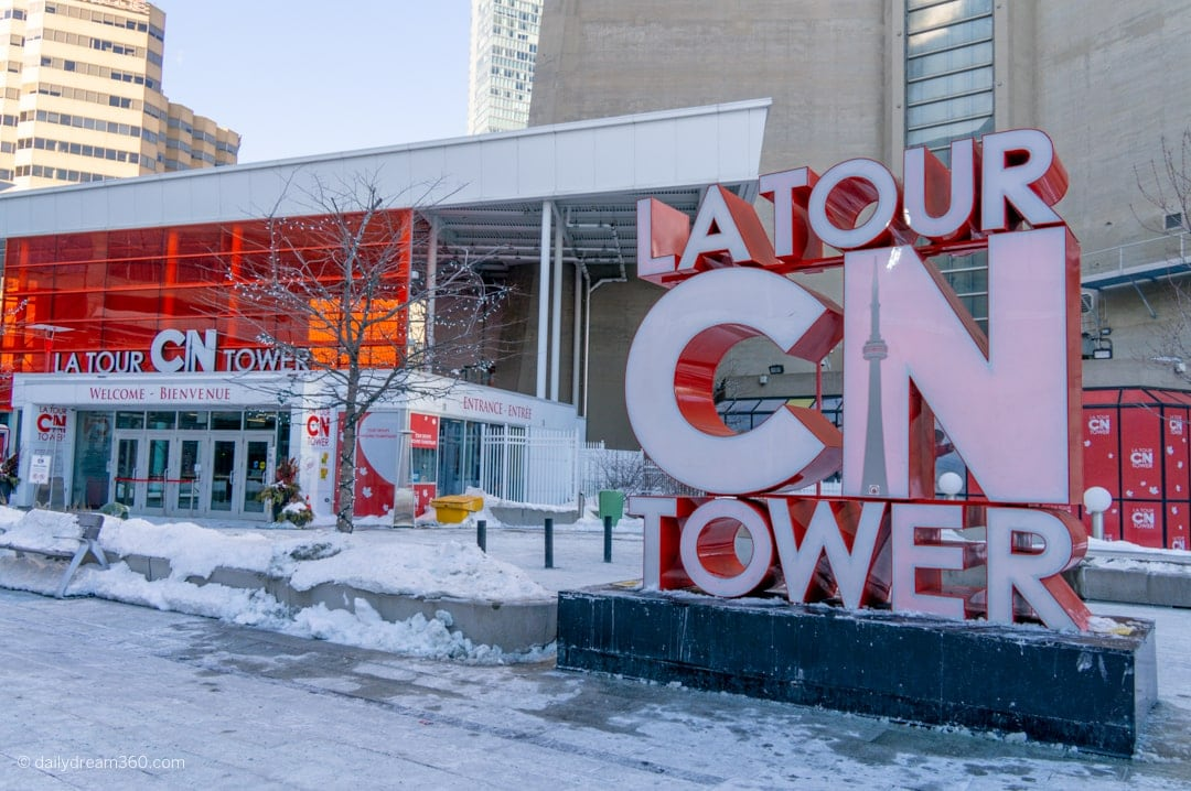 CN Tower Entrance gate with CN Tower Sign