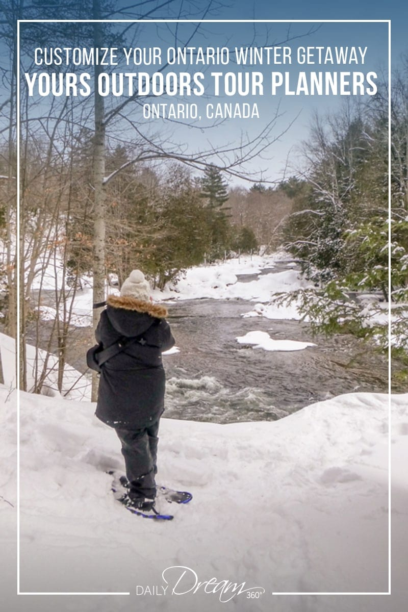 Need help planning a winter road trip? The team at Yours Outdoors can customize activities for your Ontario Winter Getaway in the Haliburton Highlands. | #Ontario #winter #getaway #touroperator #OntariosHighlands #comewander |