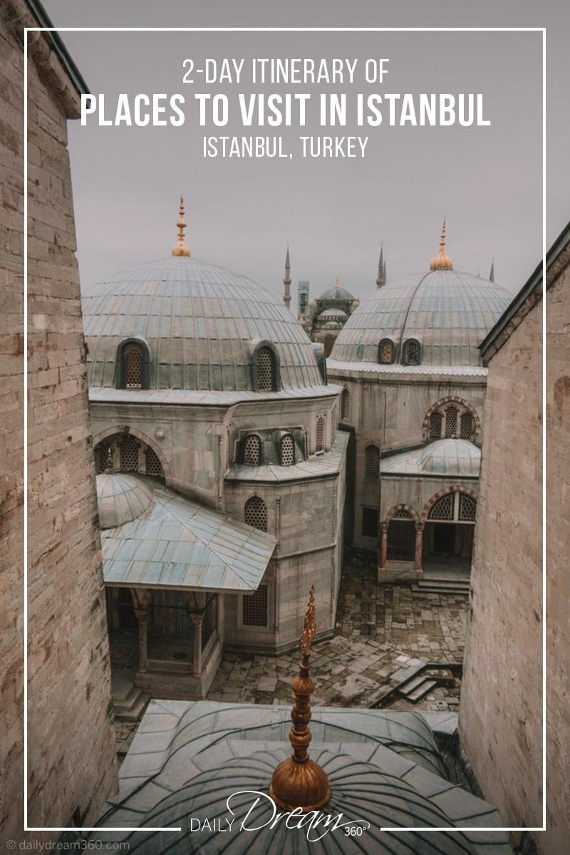 A look outside second story windows of the Hagia Sophia Museum Istanbul.