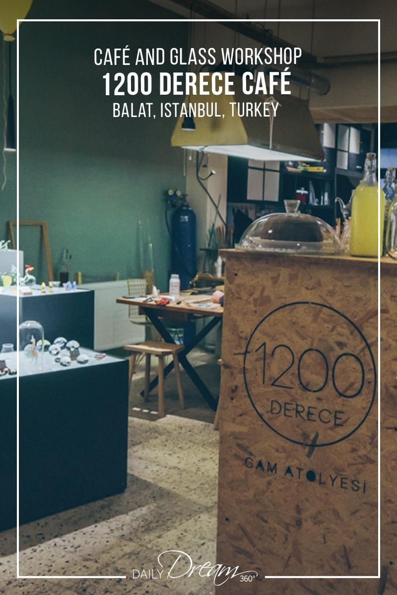 Glad shop, cafe and studio entrance 1200 Derece Istanbul