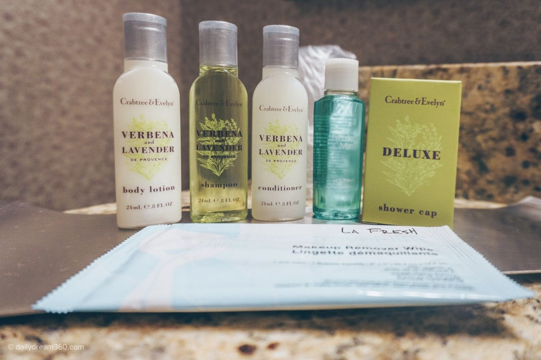 Crabtree and Evelyn toiletries at Strathallan Hotel Rochester