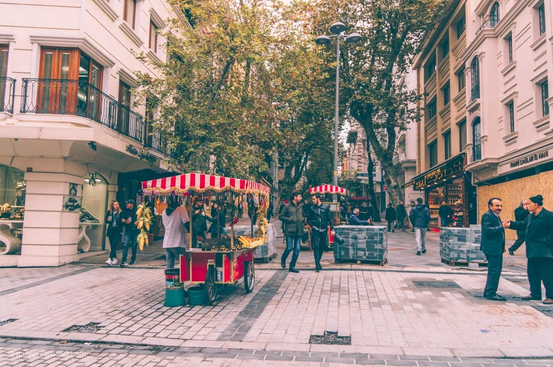 Pedestrian streets in Sultanahmet area of Istanbul