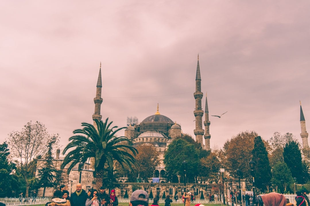 A look at the Blue Mosque in Istanbul