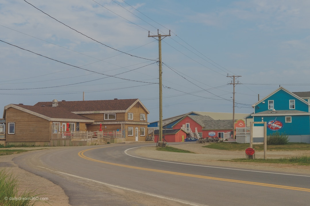 Small village at the point of Grand Entree Island Iles de la Madelaine Quebec