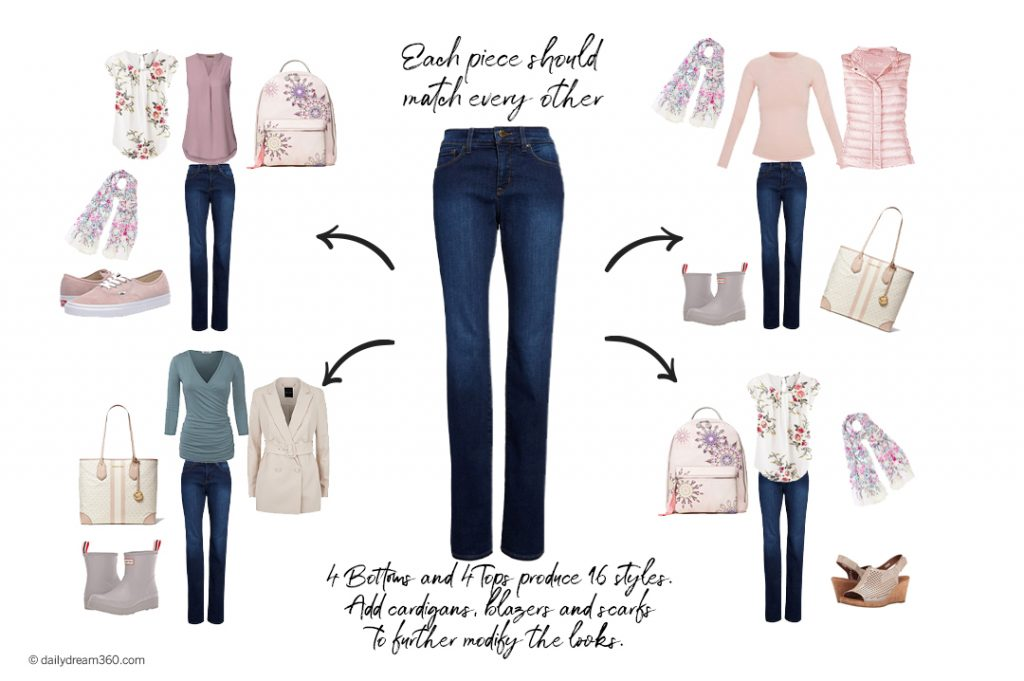 Mix and match items to create looks