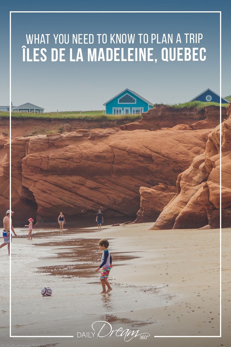 Have you dreamt about a visit to the Îles de la Madeleine in Quebec? In this post, we have created a complete travel guide filled with what you need to know to plan a trip to the islands. From how to get there, what to pack to what to do on each of the islands we have all the details on this dream Canadian destination. | #magadalenislands #ilesdelamadeleine #quebecmaritime #quebec #island #beach #bucketlist #canada |