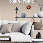 Living room with smart home devices and text: Best Gifts for a Smart Home