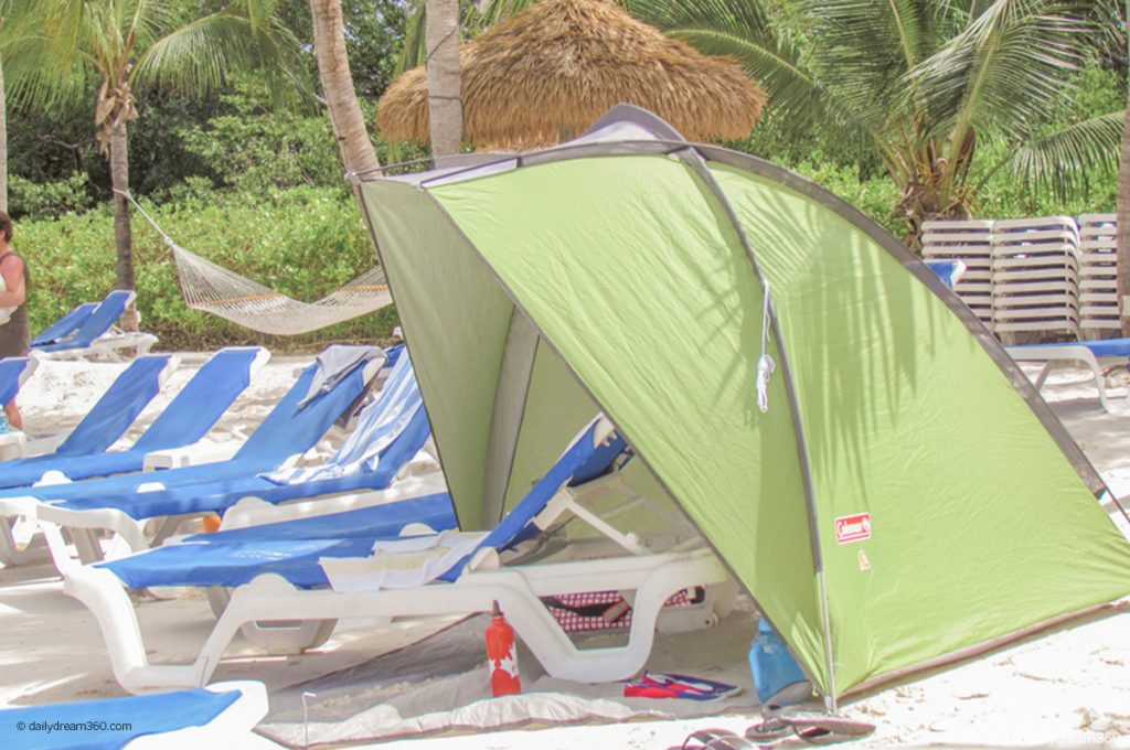 Coleman Beach Shade on beach Best Travel Friendly Beach Tents and Pop Up Beach Shades