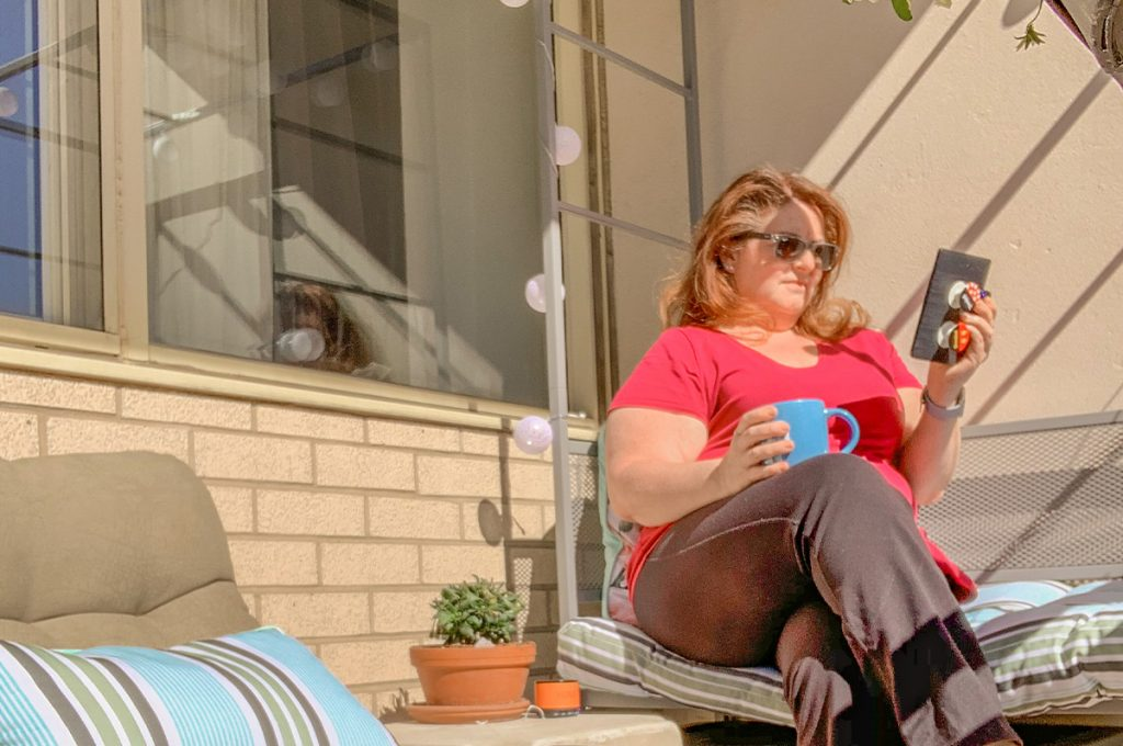 Patio time and reading - self love in isolation