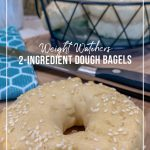 Bagel with basket behind and text How to Make Weight Watchers 2-Ingredient Dough for Bagels