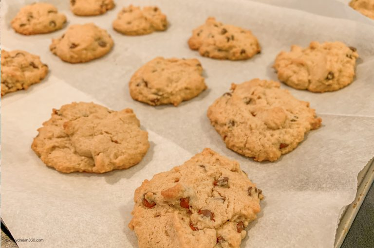 Keto Peanut Butter Chocolate Chip Cookies made with Carbquik®