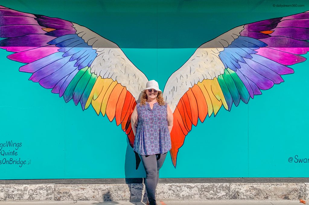 Life is not Perfect Sharon's Notes Sharon standing in front of Angel wings