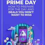 Assorted shopping and gift items on purple background and text Prime Day How to prepare for the day and deals you don't want to miss