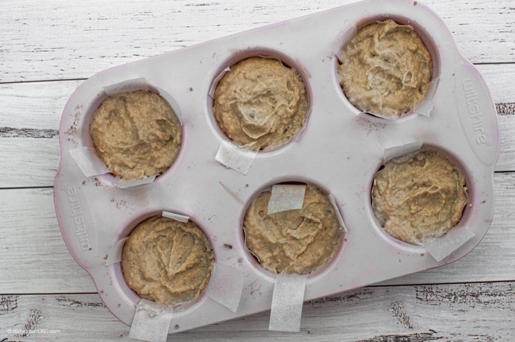 no bake vegan mini cheesecakes in pan