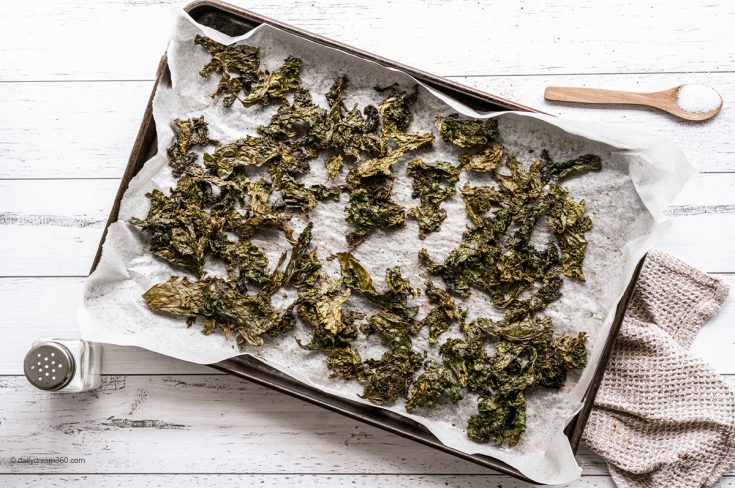 Keto-Friendly Seasoned Kale Chips Recipe (Oven Baked or Air Fryer)