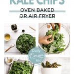 Pictures of preparation of Keto-Friendly Seasoned Kale Chips Recipe (Oven Baked or Air Fryer)