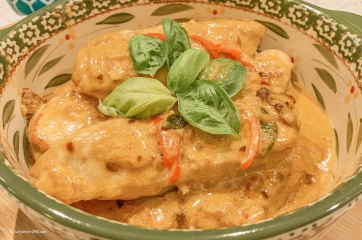 Easy One-Pan Creamy Basil Chicken with Parmesan Recipe