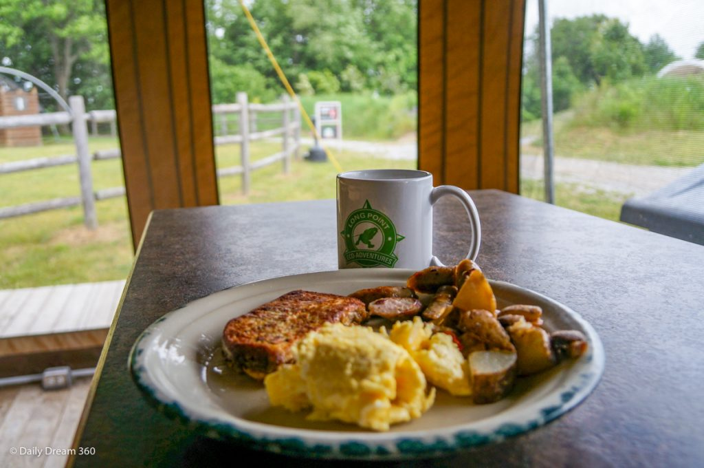 Breakfast at Long Point Eco Adventures