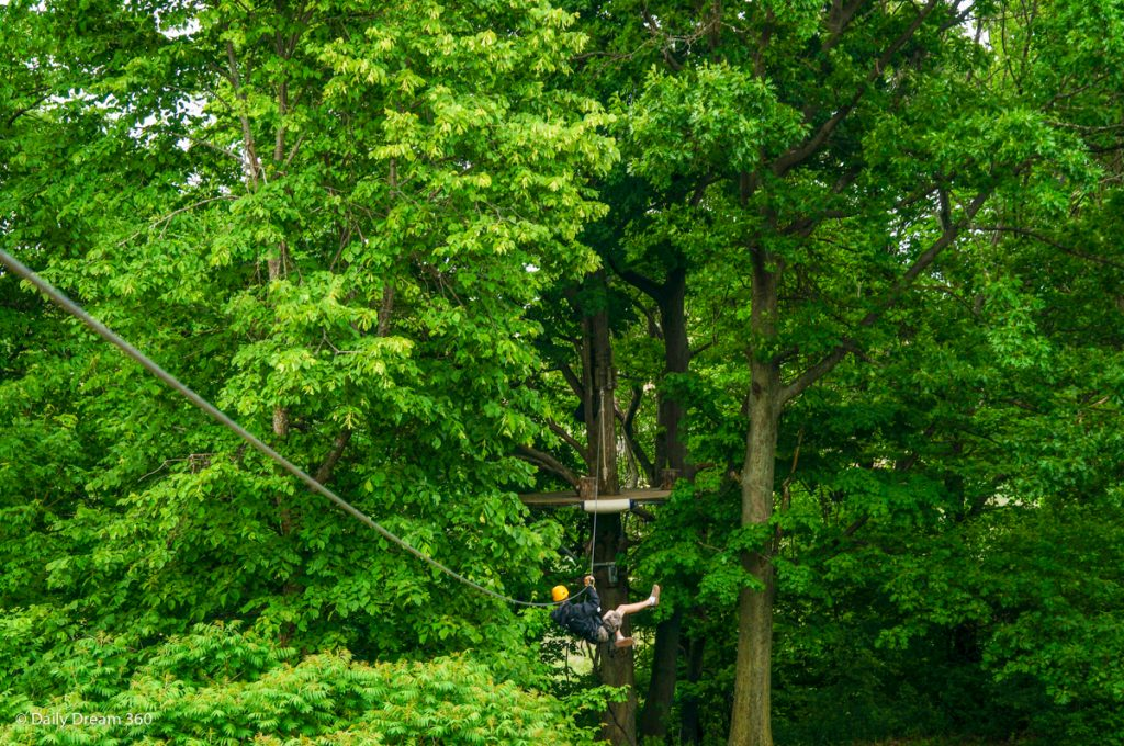 Zip-lining at Long Point Eco Adventures Norfolk County Ontario