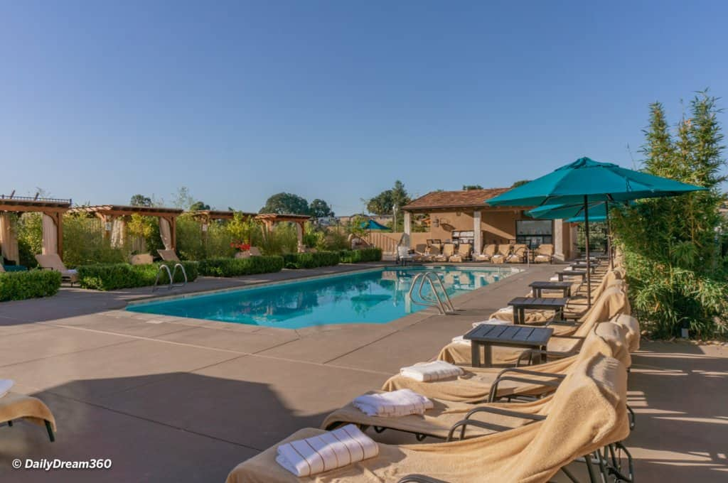 The Pool and Café at Allegretto Vineyard Resort Paso Robles