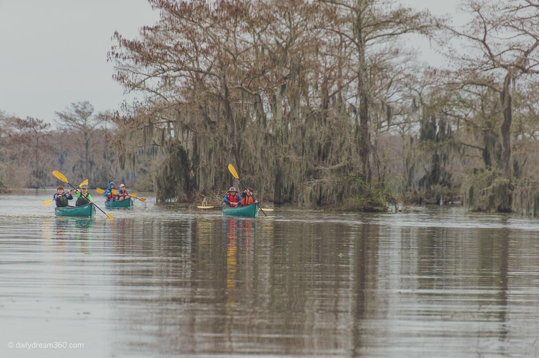 Canoe in basin