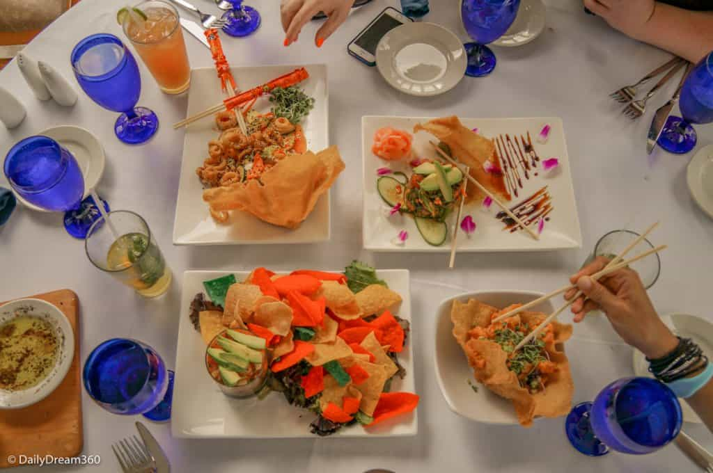 Delicious appetizers at Bayfront Bistro Fort Myers Beach