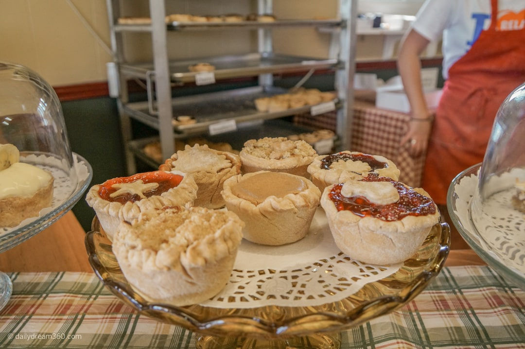 tarts on display at Bettys Pies and Tarts in Cobourg Ontario