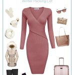 winter seater dress and accessories