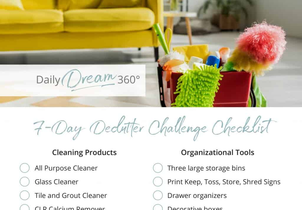 7-day declutter checklist download