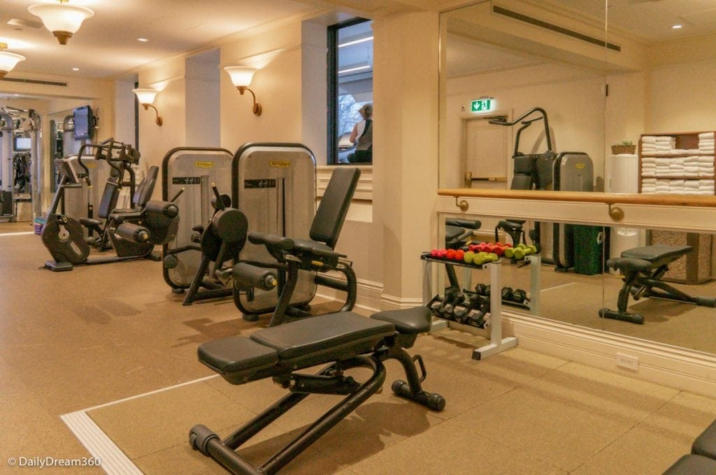 Fitness room at Fairmont Chateau Frontenac