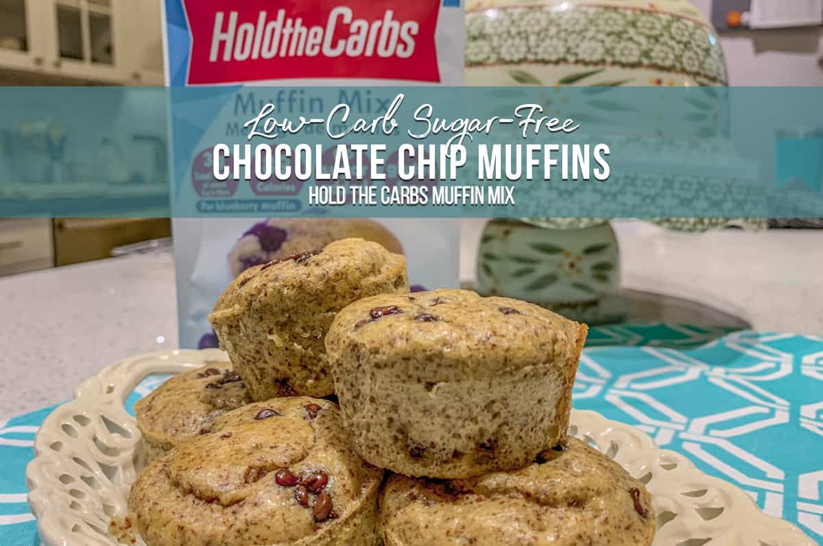 Hold the Carbs Low Carb and No Sugar Chocolate Chip Muffins