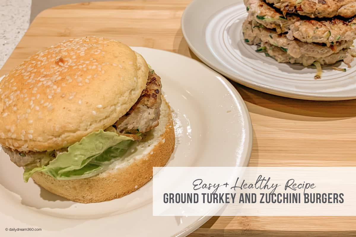 Recipe Ground Turkey and Zucchini Burgers or Meatballs